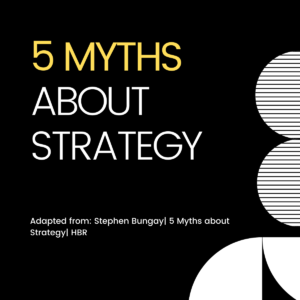 5 Myths about Strategy - Chalon Performance Consulting
