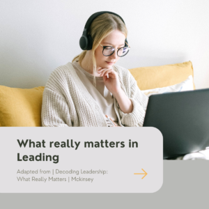 What Really Matters in Leading